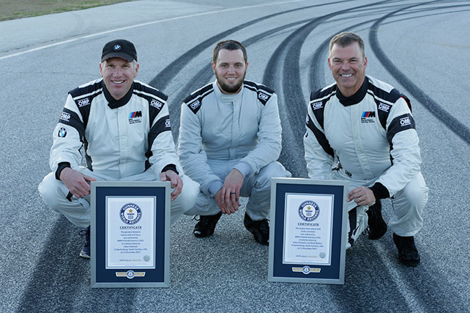 BMW M5 Guinness World Records certificates