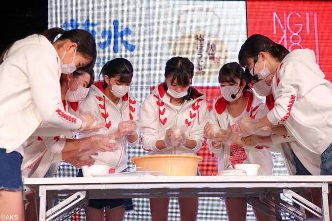 Fastest time to make 100 rice balls team 1