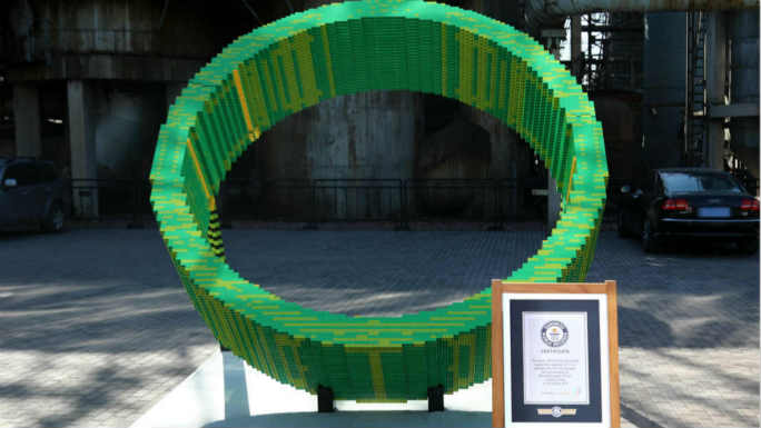 Largest LEGO® brick ring sundial