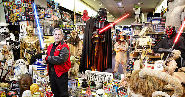 Largest collection of Star Wars memorabilia