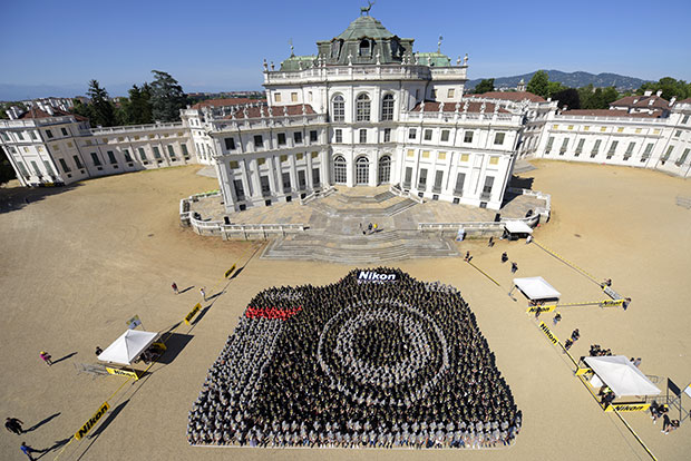 Largest human image of a camera Italy