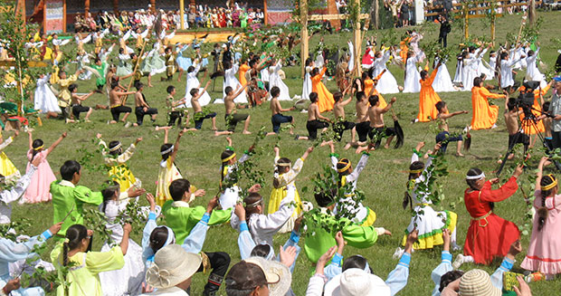 Largest ohuokhai dance