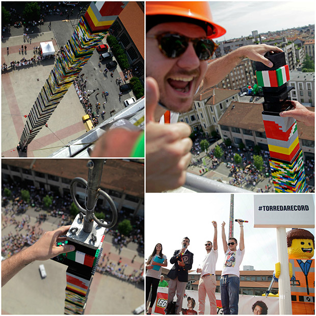 Lego-tower-italia-collage Guinness World Records