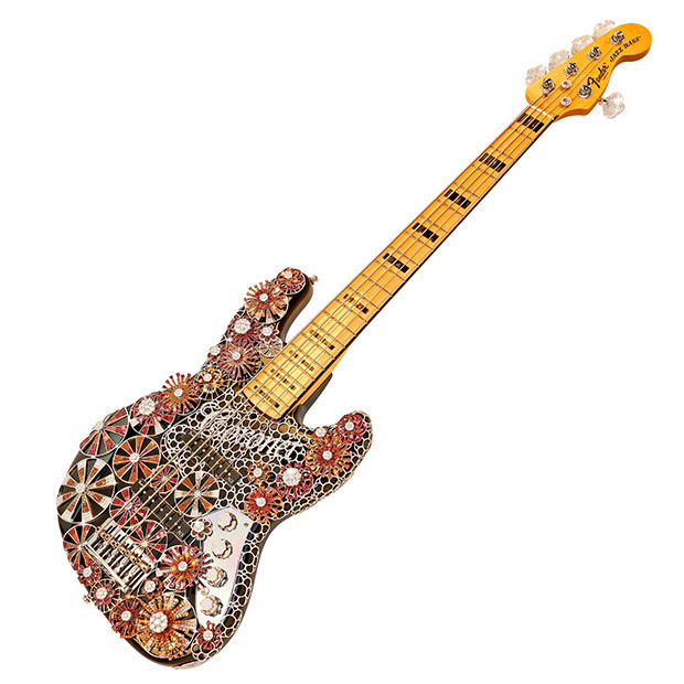 Most jewels on a guitar