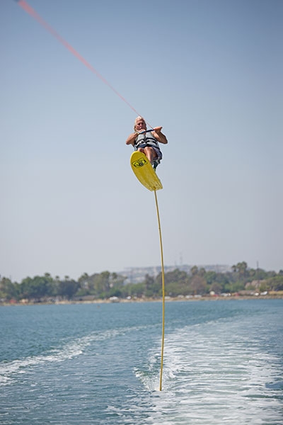 Tallest sit down hydrofoil ridden Mike Murphy