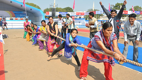 Largest tug of war tournament - women