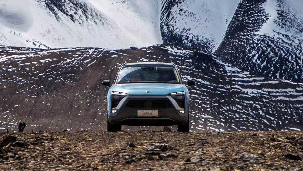 Nio ES8 has set the record for the highest altitude achieved in an electric car