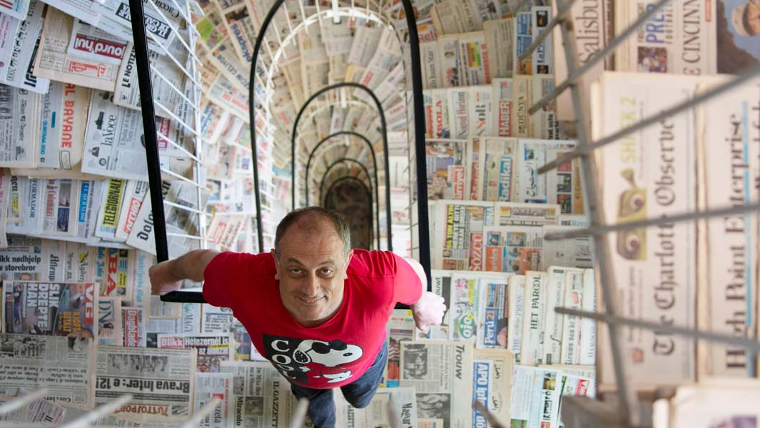 Sergio Bodini from Italy has a collection of more than 1,400 newspaper titles