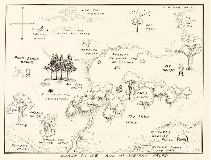 Map of Hundred Acre Wood. Image: Sotheby's