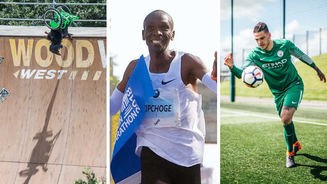 Aaron Fotheringham, Eliud Kipchoge and Ederson all set records in 2018