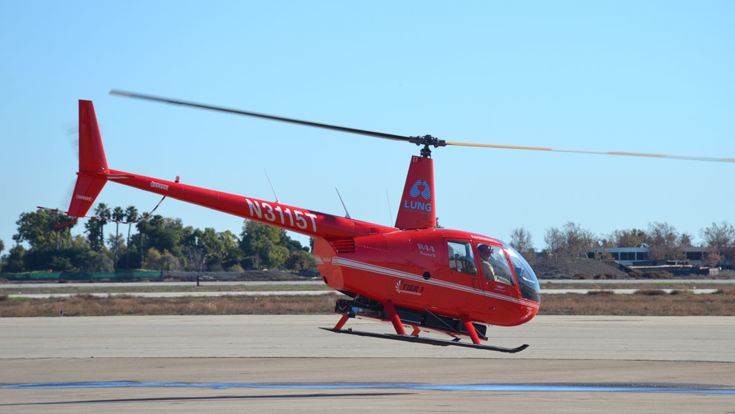 The Farthest flight by an electric helicopter has been achieved in California, US