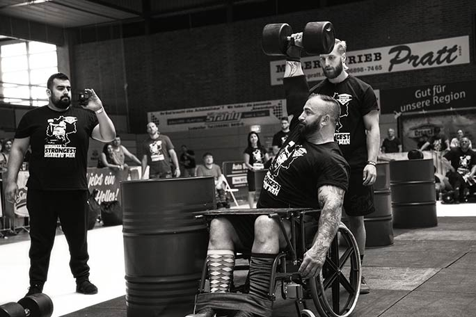 Martin has been competing in strongman events for a little over three years