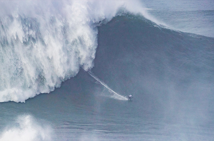 Maya Gabeira breaking the record for the largest wave surfed
