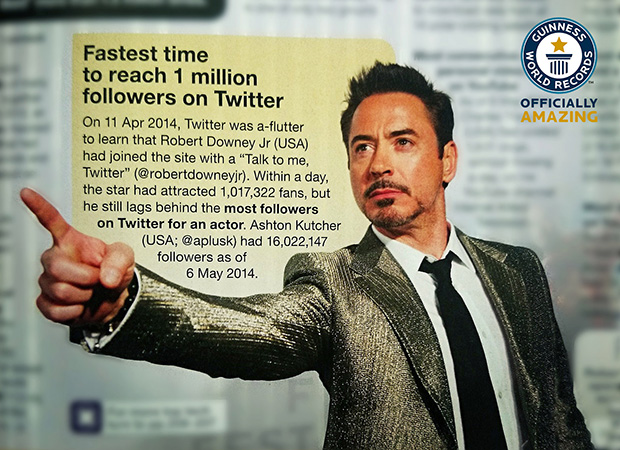 Robert Downey Jr. Twitter record