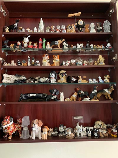 Largest collection of dog-related items cabinet