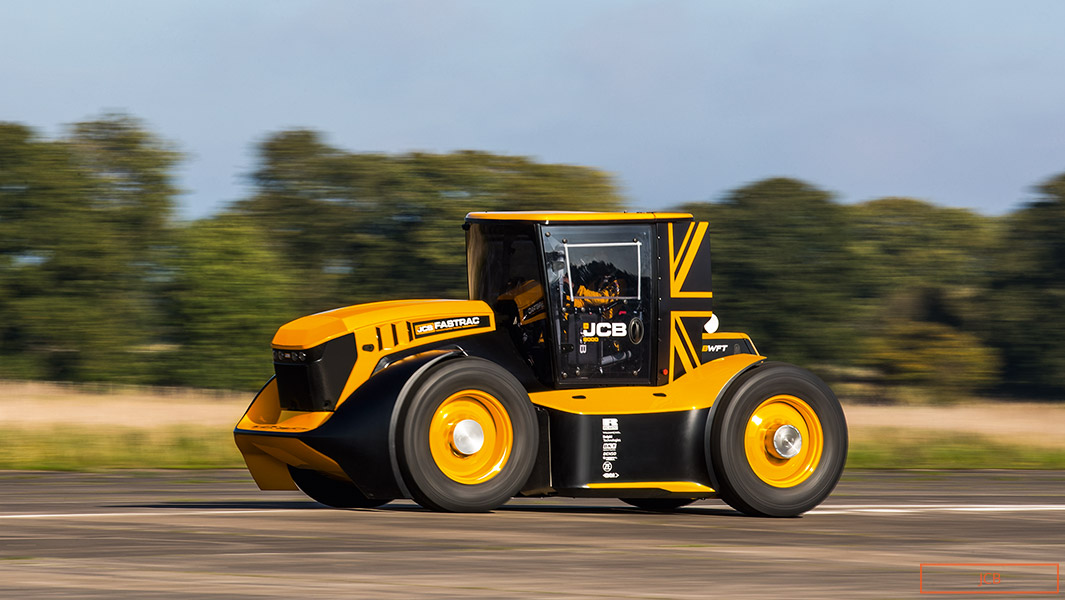 Guy Martin has set the record for the fastest tractor modified at 135.191 mph