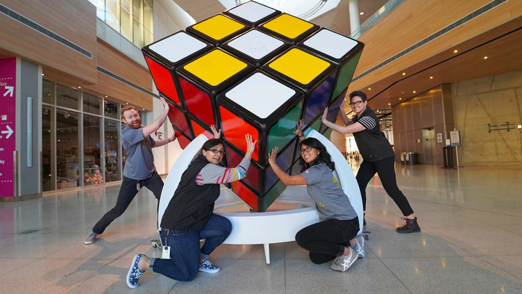 The world's largest Rubik's cube in Calgary, Canada
