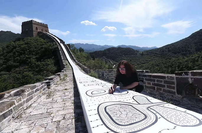 Longest drawing great wall china guo feng guinness world records