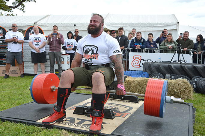 Martin Tye heaviest seated deadlift attempt