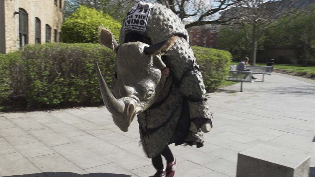 Harry Vowles is running London Marathon 2019 dressed as a rhino for Save the Rhino