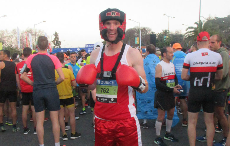 Fastest marathon dressed as a boxer
